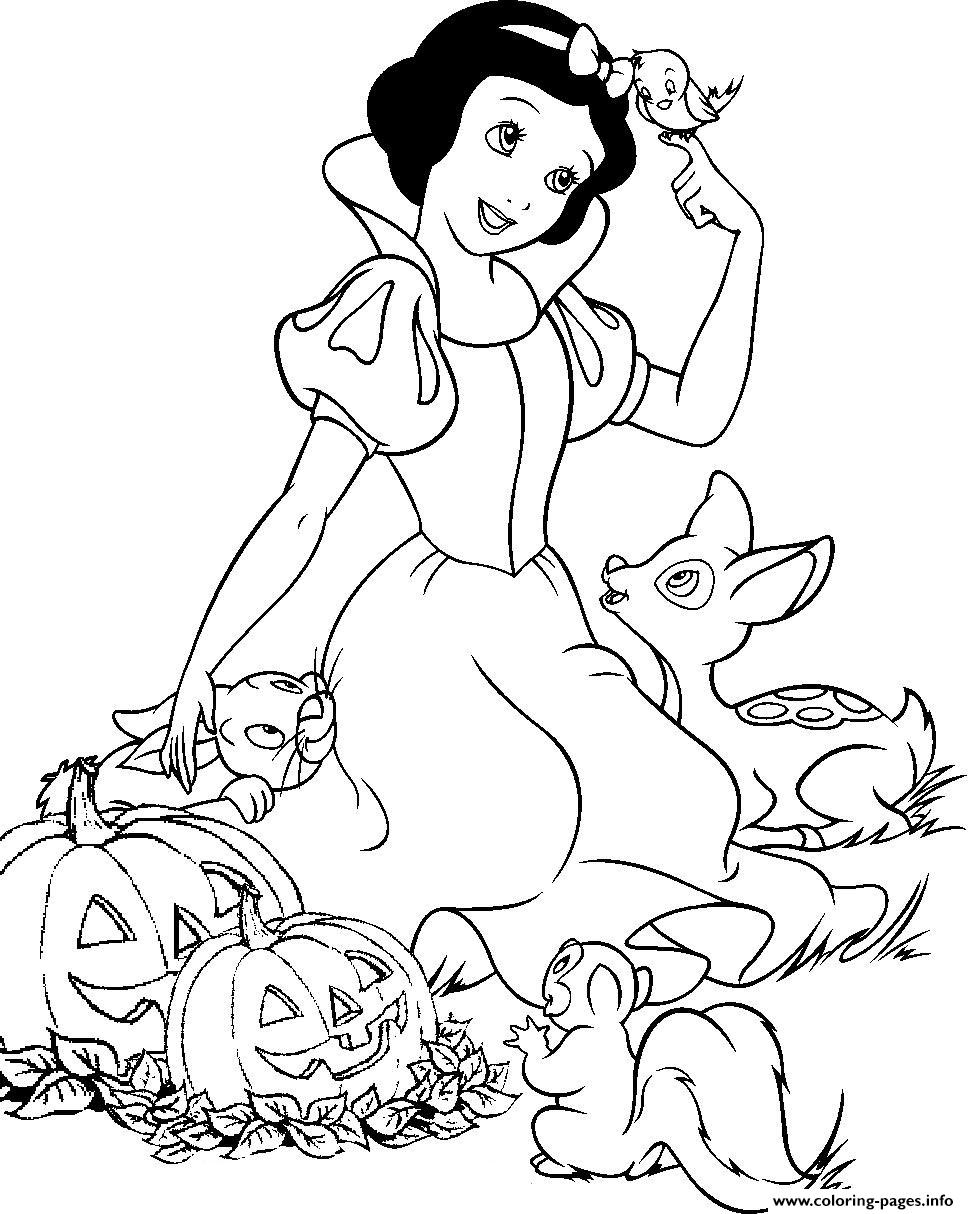 snow white free printable halloween disney8375 Coloring pages