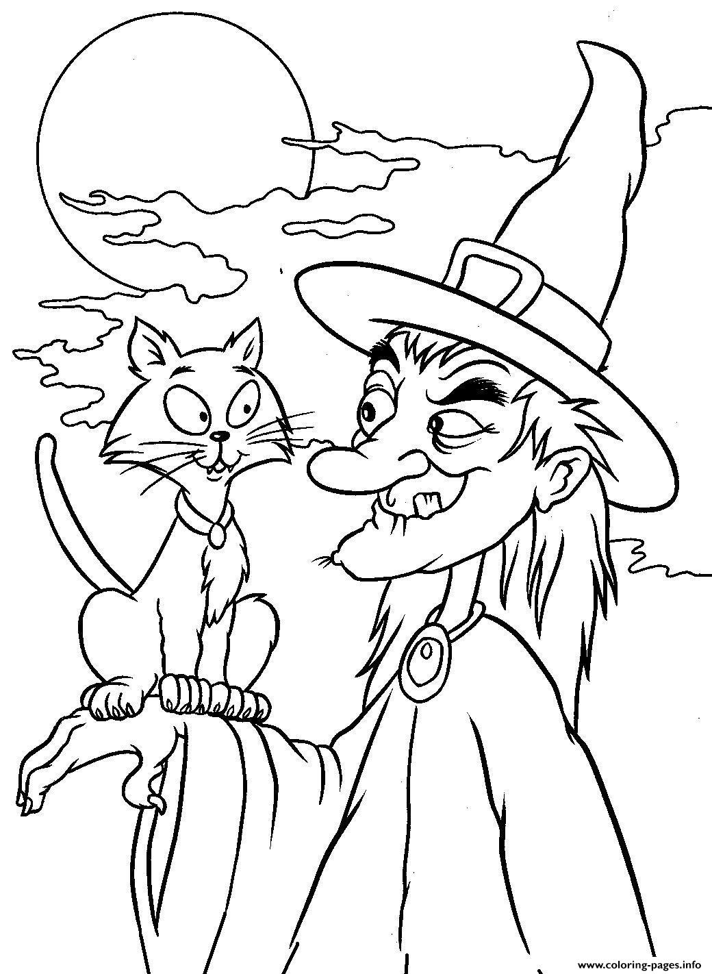 Coloring Pages Print Out Witch Halloween1ec6 Coloring ...