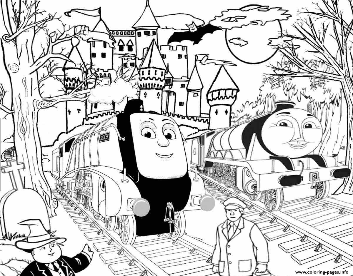 Spencer And Gordon Halloween Thomas The Train S To Printd359 Coloring Pages Print Download