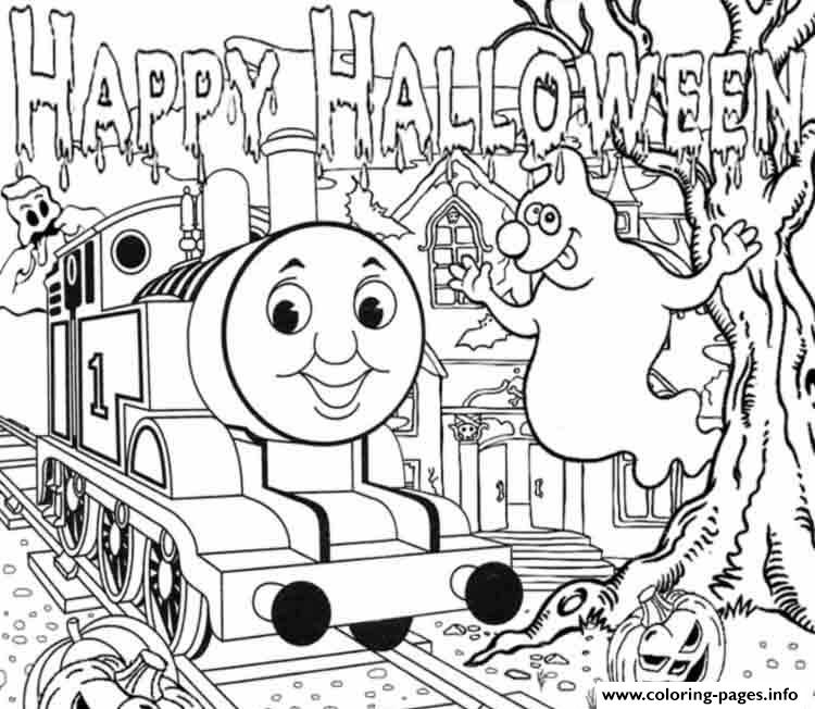 Halloween Full Page Thomas The Train Sac35 Coloring Pages Printable