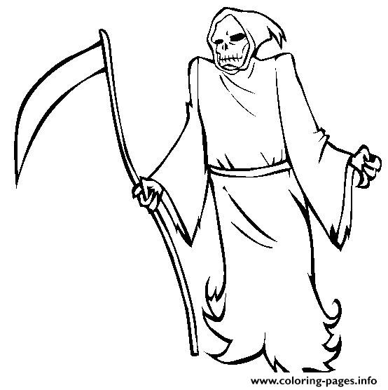 Halloween Grim Reaper S Free73fe Coloring Pages Printable