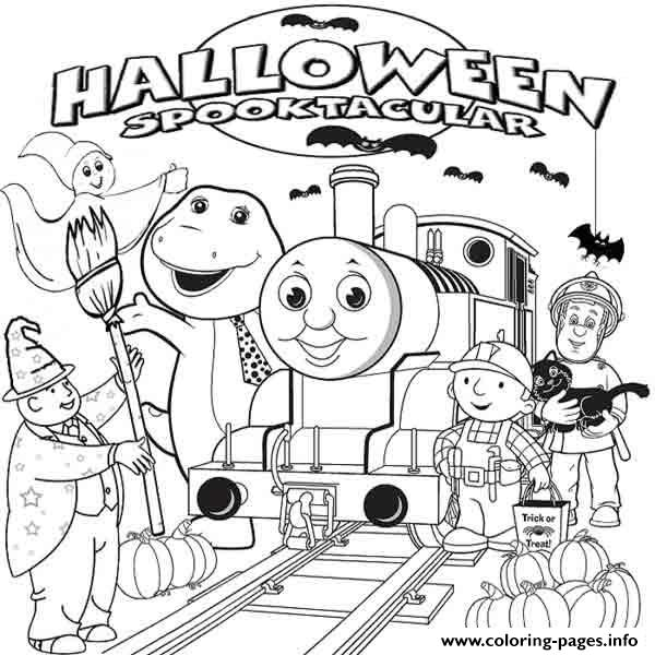 Halloween Thomas The Train S To Printacd7 Coloring Pages Printable