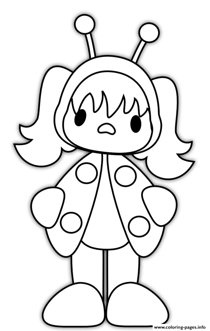 Coloring Pages Costume Coloring Pages ladybug costume girl halloween s9633 coloring pages free printable mummy color pages