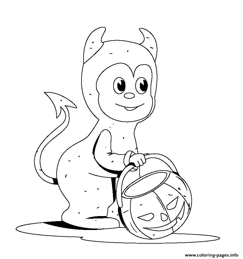 Costume Kindergarten S Halloween375a Coloring Pages Printable