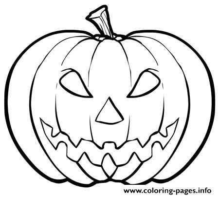 printable scary pumpkin coloring pages - photo#4