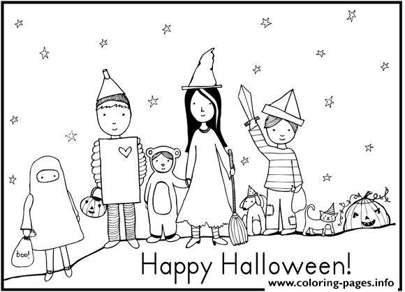 Happy Halloween Costumes S Free5837 Coloring Pages Printable