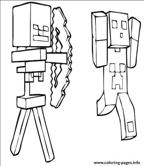 Minecraft Run Fast coloring pages