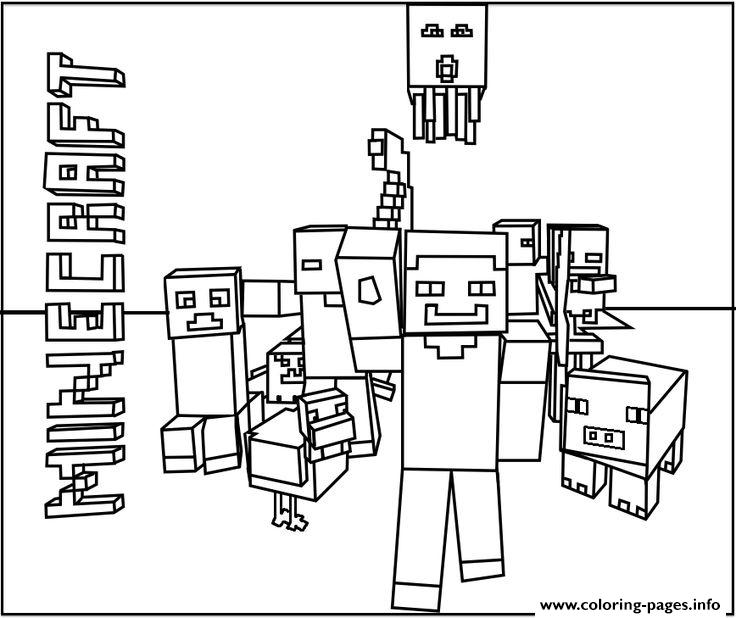 Minecraft World Team coloring pages