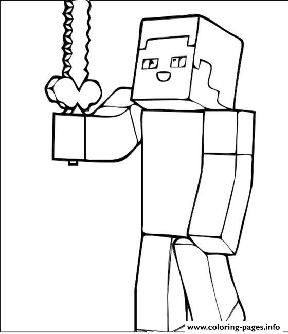 Minecraft Guy coloring pages