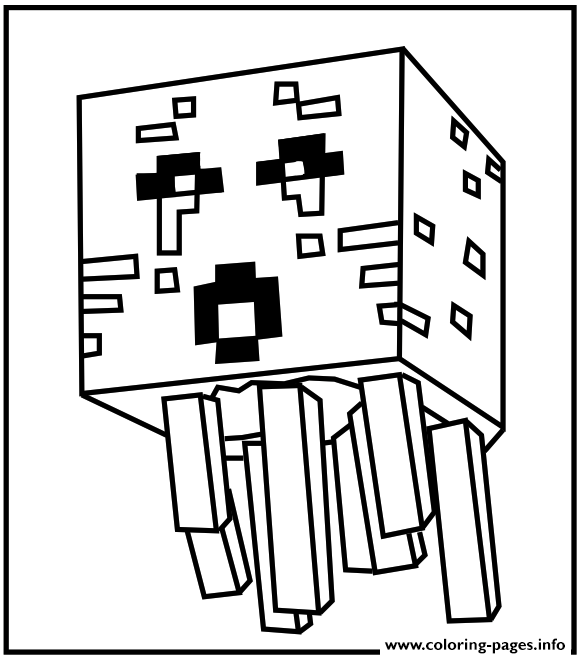minecraft water Coloring pages Printable