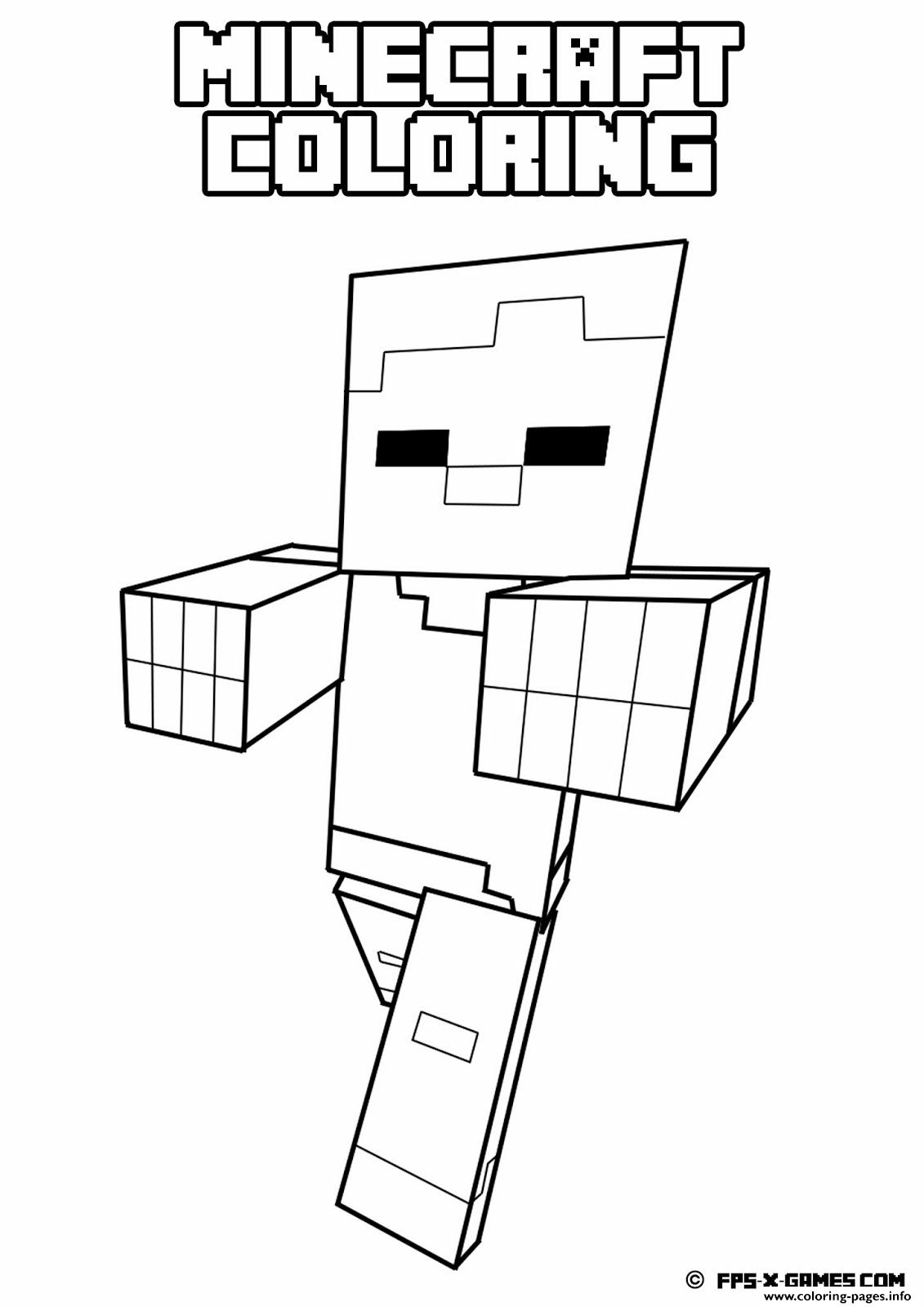 Free Coloring Pages Of Minecraft Horses