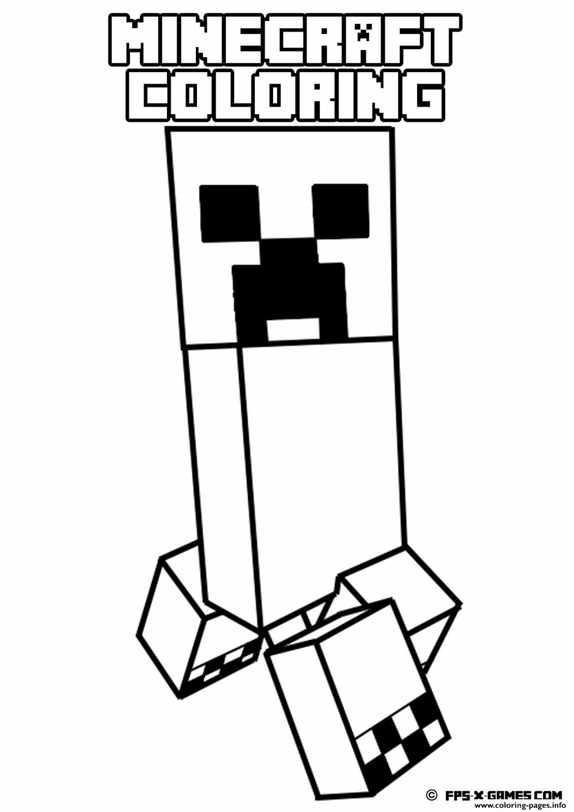 minecraft weird monster coloring pages