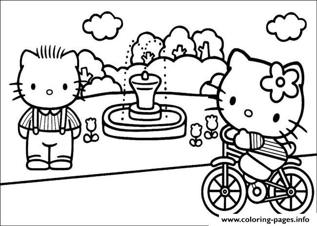 hello kitty in a park e34c coloring pages printable - Coloring Pages To Print Of Hello Kitty
