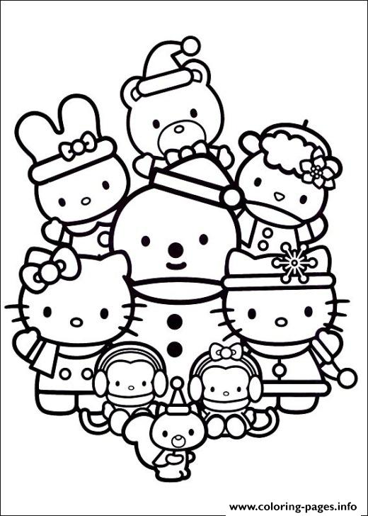 Hello Kitty With Friends 462d coloring pages