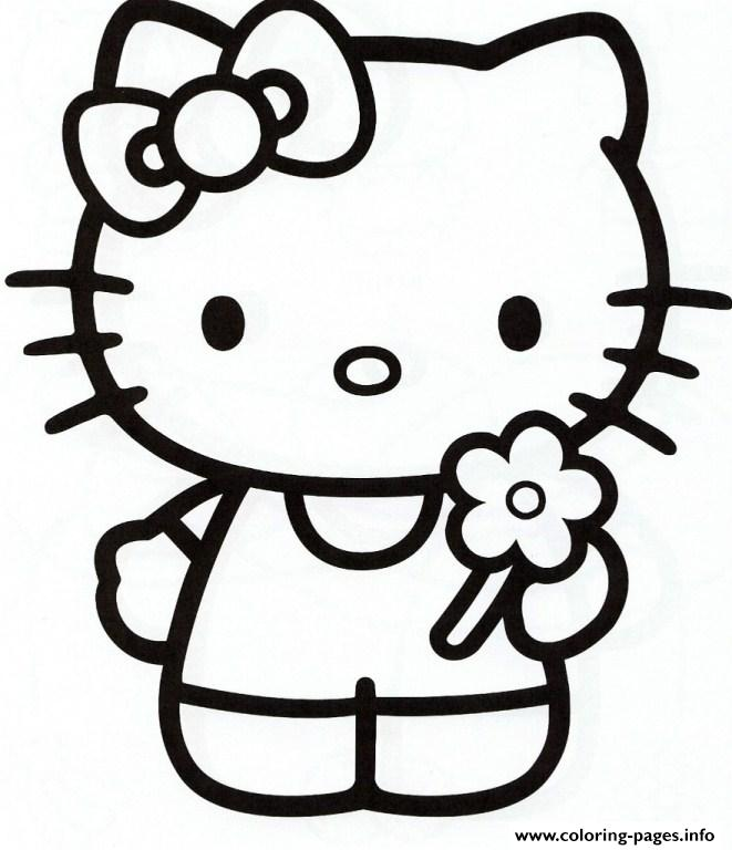 Girly Hello Kitty E981 Coloring Pages Printable