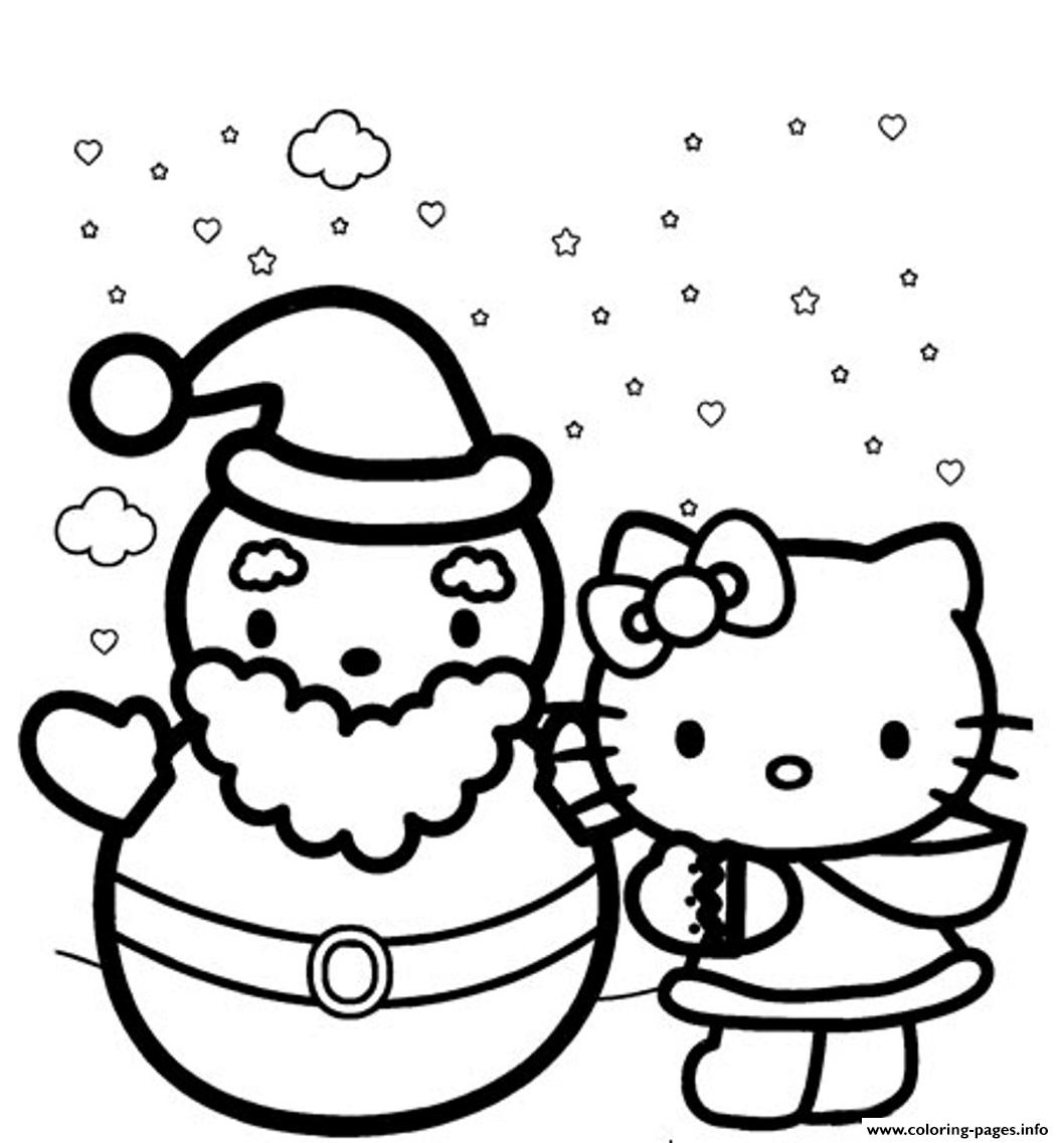 Hello Kitty Winter Themed S1d5c4 Coloring Pages Printable