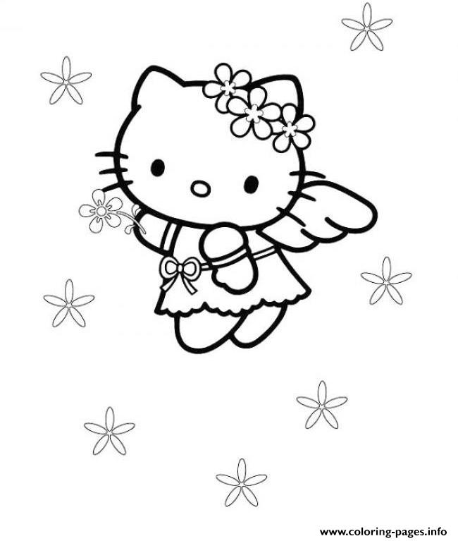 695718e03 ... Cute Sanrio Printables: Cute Hello Kitty S Angel60f9 Coloring Pages  Printable
