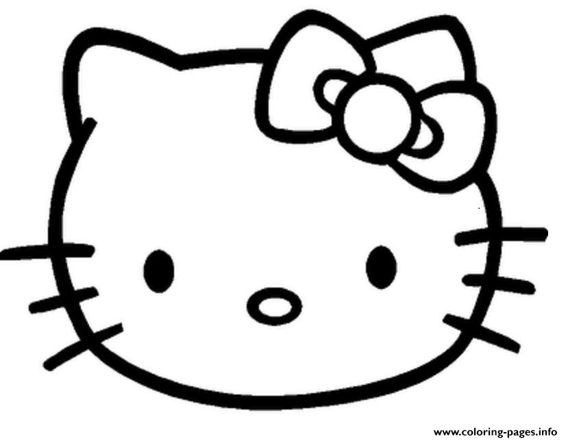 Face Of Hello Kitty S Free Printablee8fe coloring pages