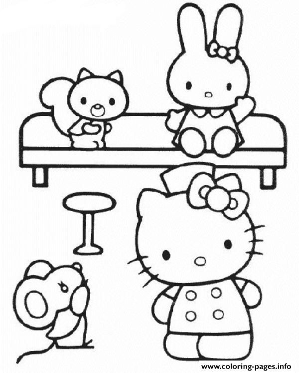 Hello Kitty Nurse 6abf coloring pages