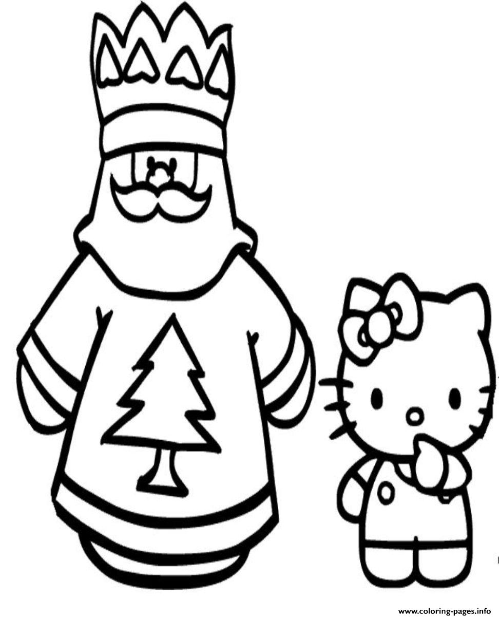 coloring pages of santa claus and hello kittyb9d9 coloring pages - Coloring Pictures Of Santa Claus