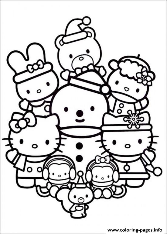 Hello Kitty  Christmas With Friends7c0d coloring pages