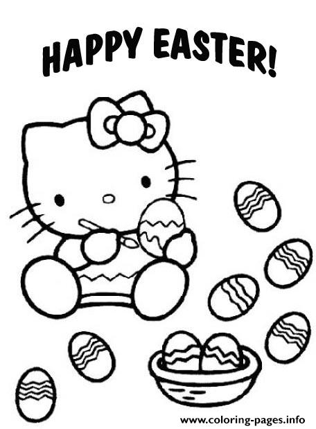 Hello Kitty Preschool S Easter04e5 coloring pages