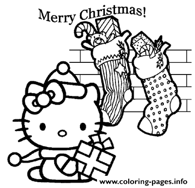 Hello Kitty  Christmas And Gifts37ee coloring pages