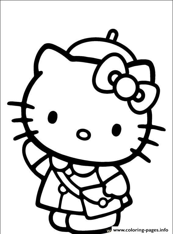 Hello Kitty Going To School 4e2a Coloring Pages Print Download 396 Prints