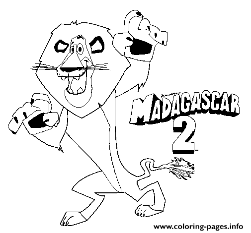 Alex The Lion S For Kids Madagascar 24834 coloring pages