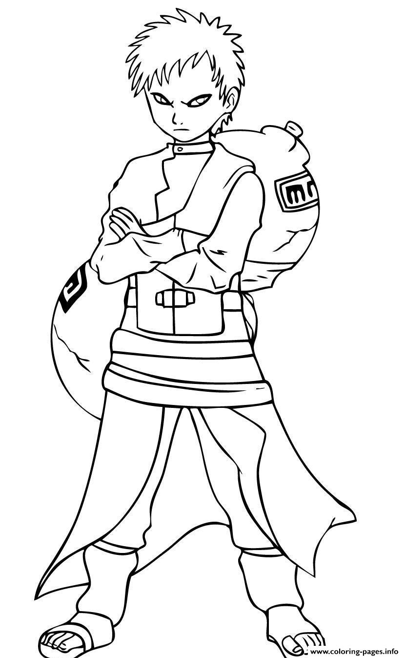 Gaara Of Naruto Scfcb Coloring Pages Printable