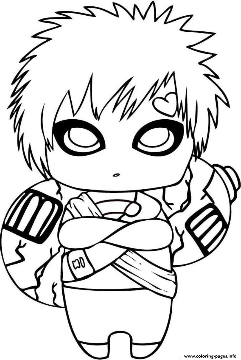 Naruto S Cute Gaara3edd Coloring Pages Print Download 465 Prints