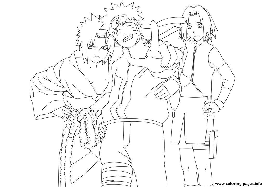 Coloring Pages Anime Naruto Teamce93 Print Download