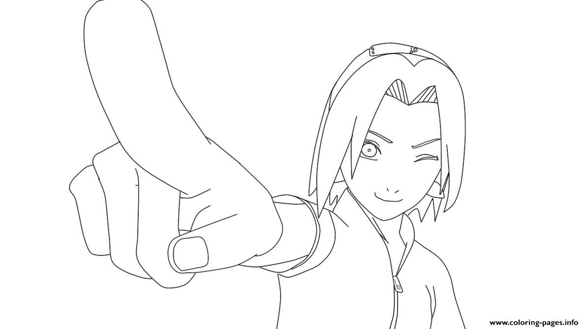 sakura haruno s of naruto girls3a67 coloring pages printable