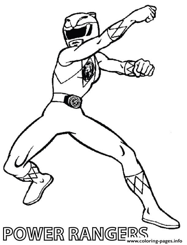 Yellow Power Rangers S For Boysf292 Coloring Pages Printable