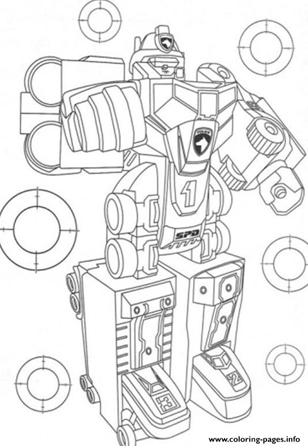 Awesome Power Ranger Robot S50cf coloring pages