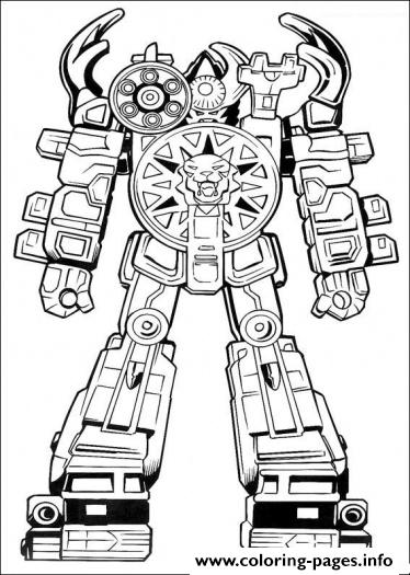 Power Ranger Robot S60b0 coloring pages