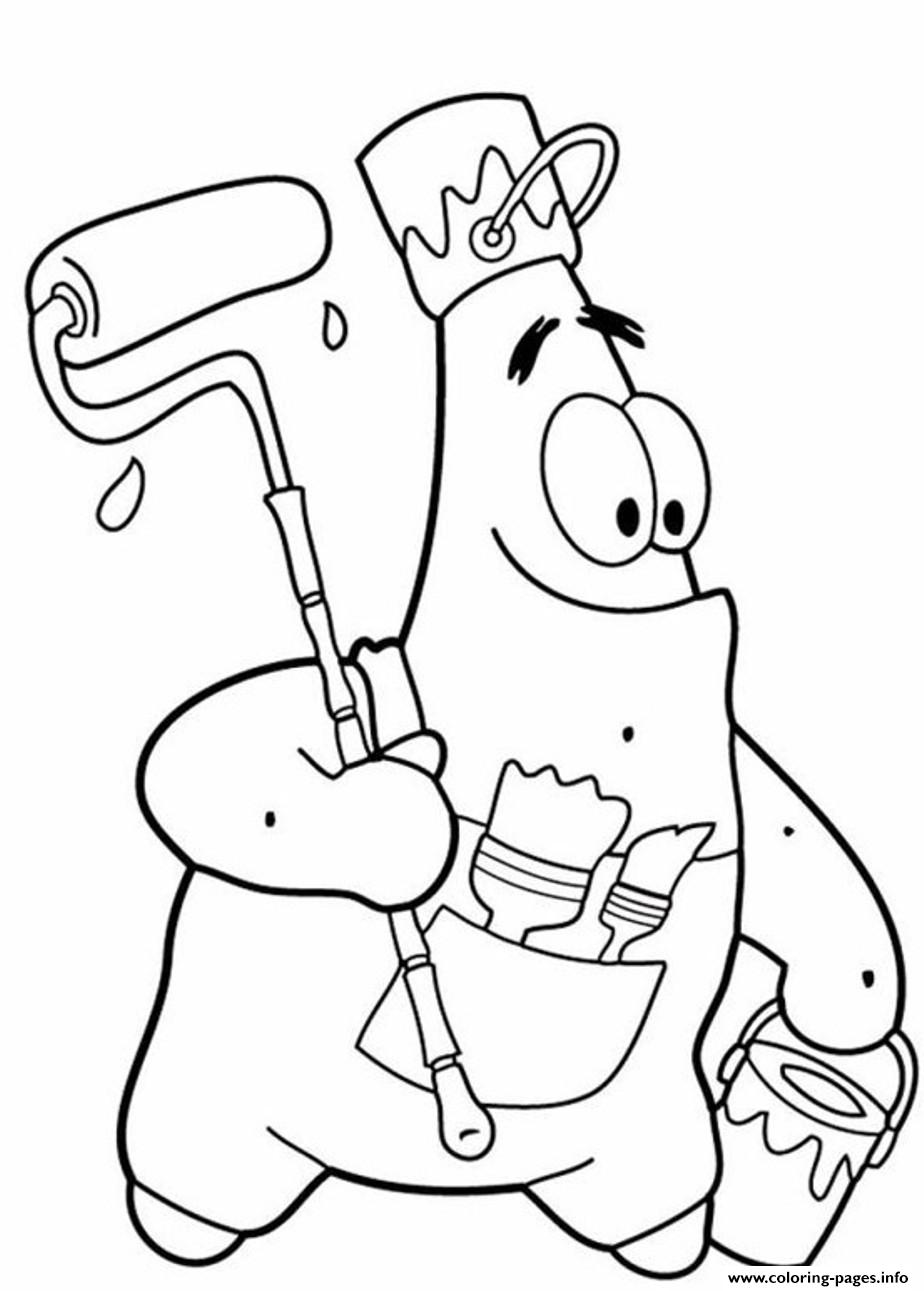 Funny Patrick Star S Spongebob Cartoon1d0c1 Coloring Pages Print Download 529 Prints