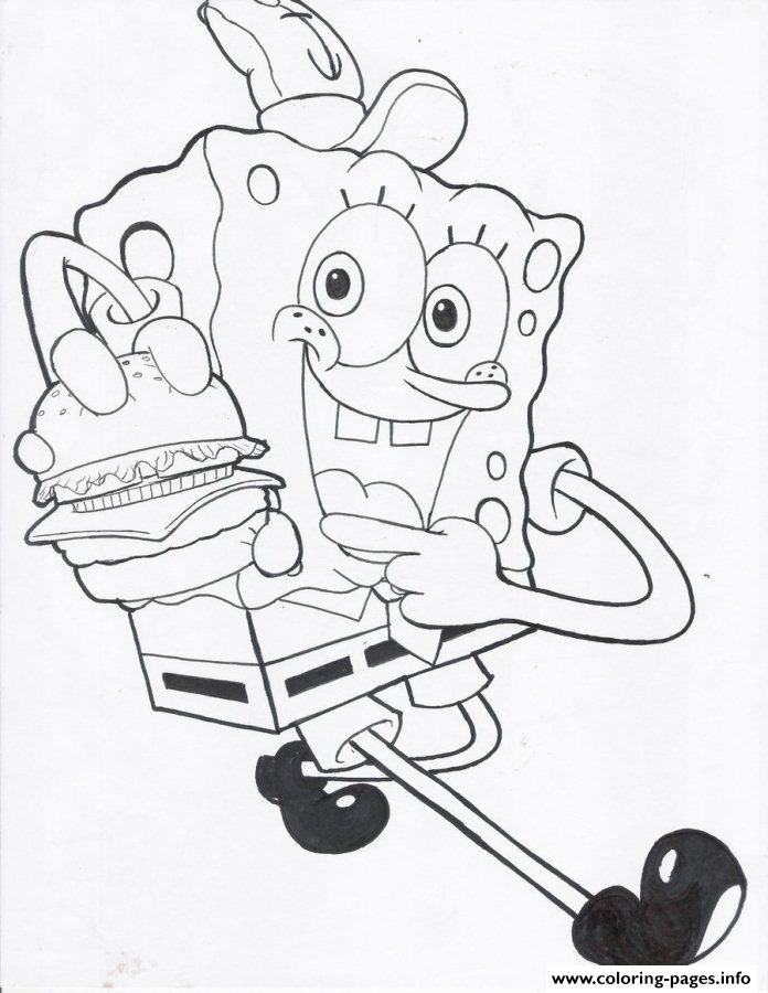 Free Spongebob S For Kidsf8ca Coloring Pages Printable