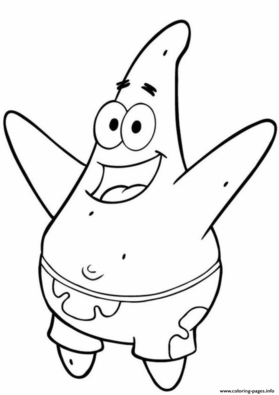 Happy Patrick In Spongebob Printable