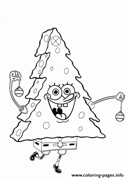 how to draw spongebob christmas