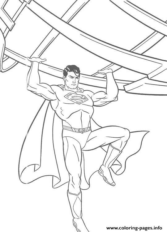 Fighting Superman S For Kids Printable56b0 Coloring Pages Printable