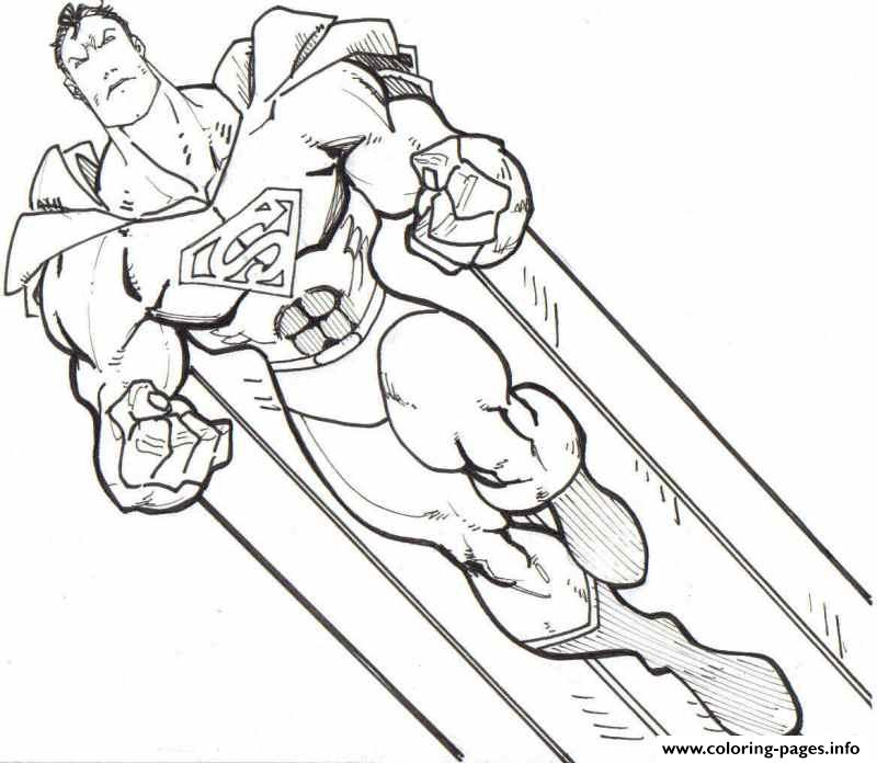 Super Strong Superman Coloring Page8b19 Coloring Pages Printable