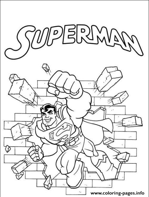 Superman Punching Wall Coloring Page00b5 coloring pages