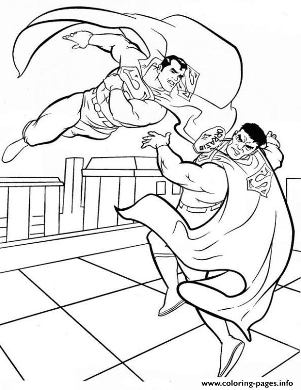 Superman Fighting Coloring Page39c6