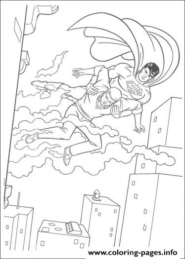 Superman Saves Life Coloring Page5b4e coloring pages