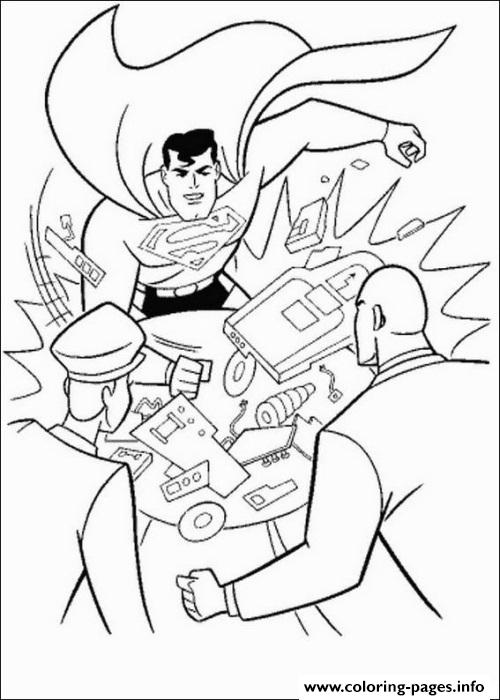 Superman Attacks Lex Coloring Page1ca6 coloring pages