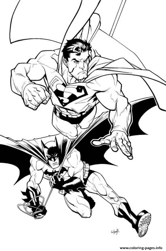 Superman And Batman Coloring Page3f76
