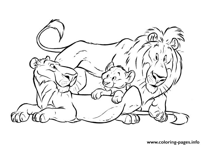Lion King Family Free Sca18 Coloring Pages Print Download 421 Prints