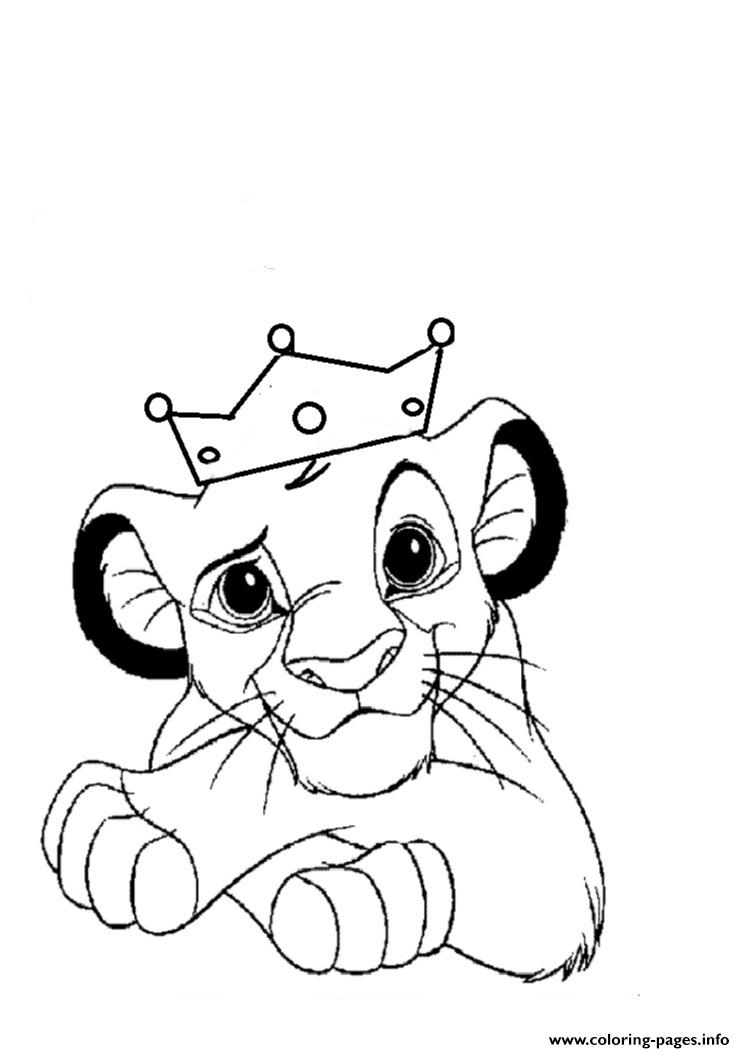 Little Lion King Free F339 Coloring Pages Printable