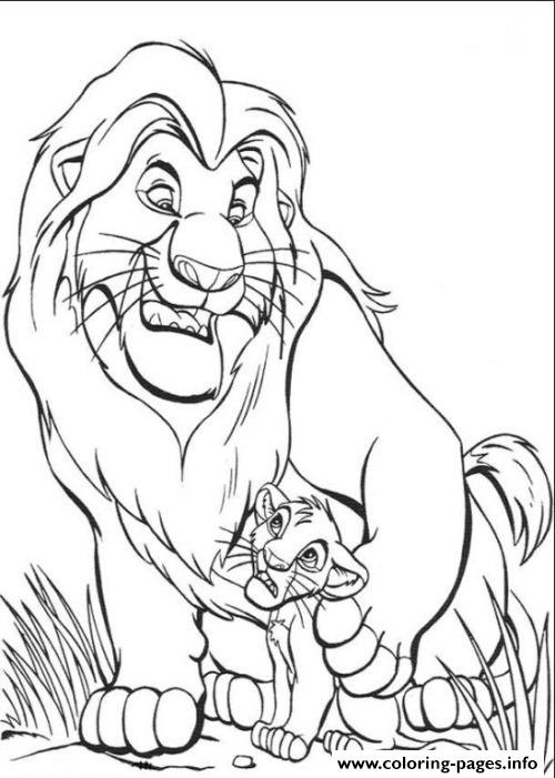 Mufasa And Simba Free 5a0d coloring pages
